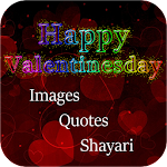 Happy Valentine wishes Wallpapers quotes and SMS Icon