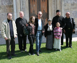 Photo: EVIDENTLY IN THE KOSOVO, I THINK THAT IS DAUGHTER LAOCADIE ON HANDKE'S RIGHT