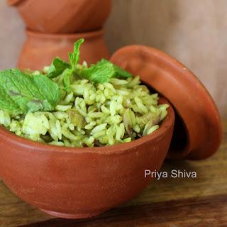 Mint Rice / Pudina Rice.