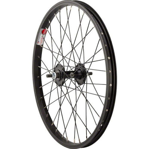 "Sta-Tru Black Front Wheel 20x1.5"" Solid Axle with 36 Spokes"