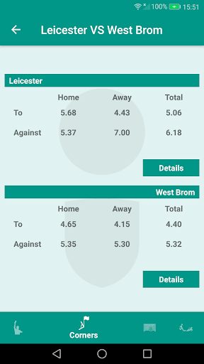 Gambling stats, corners, cards, goals. Betting. for PC