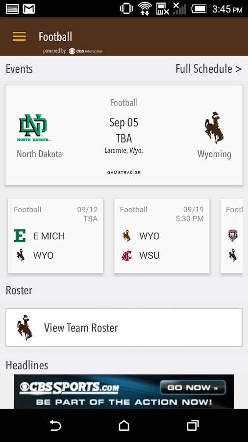 WYO Gameday LIVE- screenshot