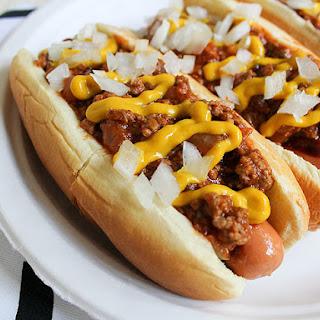 Detroit-Style Coney Island Hot Dog.