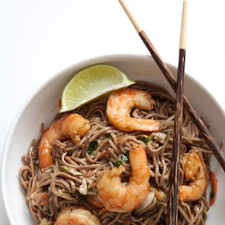 Soba Noodle and Shrimp Salad with Peanut Ginger Dressing