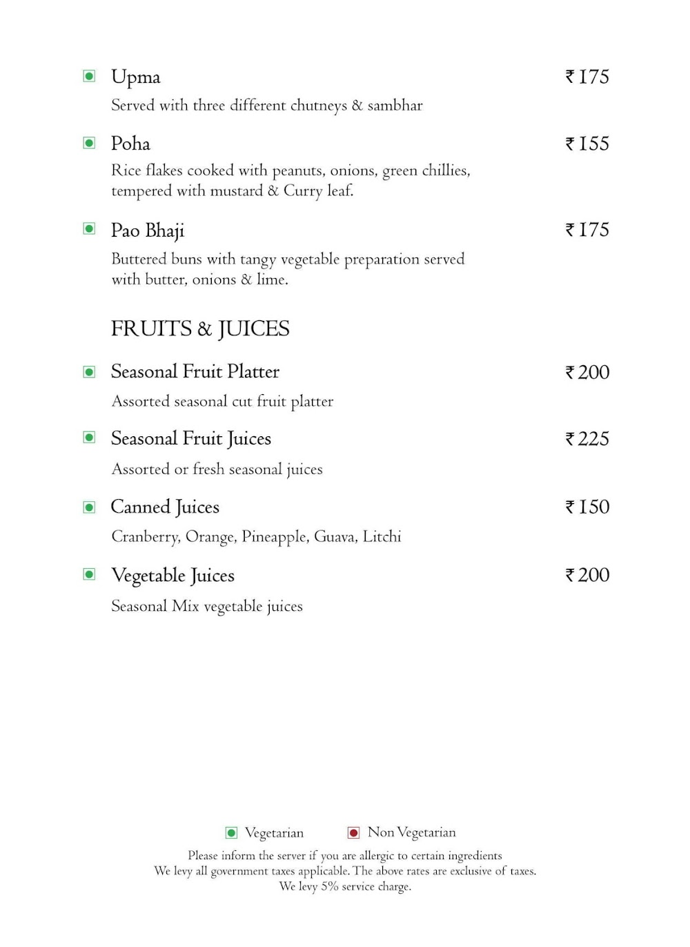 Branche - Golden Tulip Suites menu 11