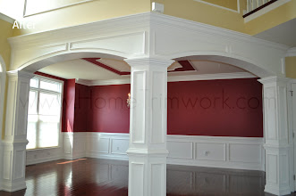 Photo: (After) Young's Archways with square pillars and crown headers. Warminster, PA