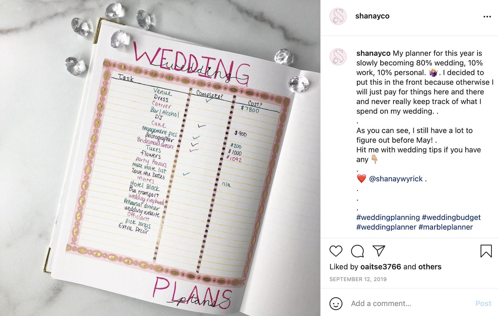 Shanayco wedding costs