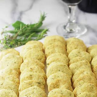 Einkorn Parmesan Herb Crackers.