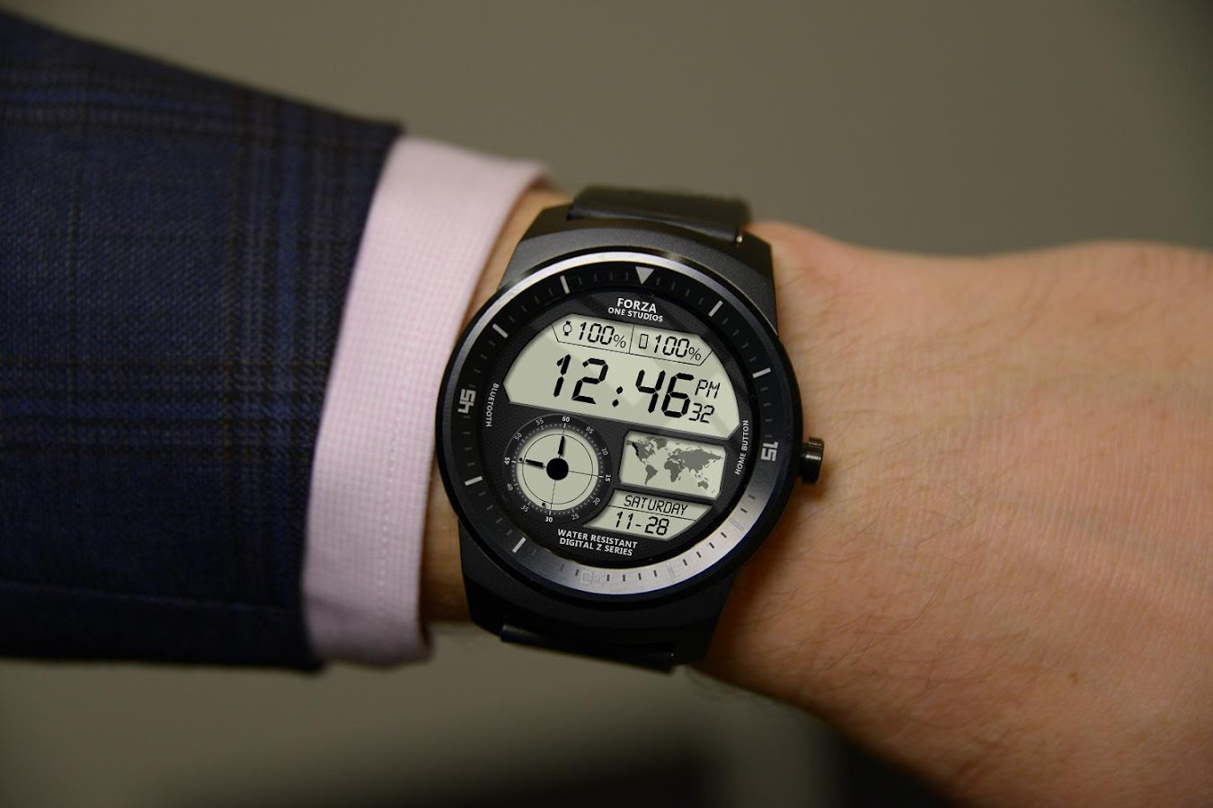 Facer android wear - Watch Face Z04 Android Wear Screenshot
