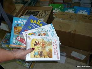 Photo: Extrait des ouvrages et DVD stockés à Jérusalem