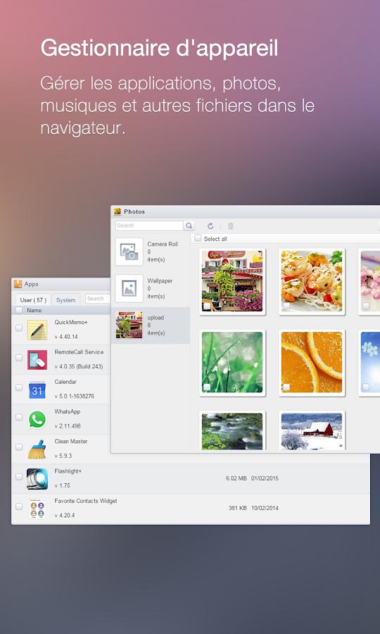 AirDroid - Android sur PC/Mac - screenshot