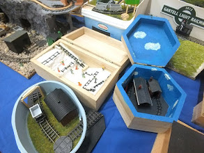 Photo: 021 3 of Toby Hollins' dioramas in food tubs and jewellery boxes – layouts don't get any smaller than this – in any scale! .
