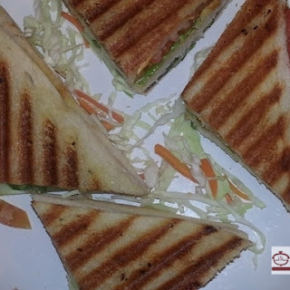 Vegetable Bread Sandwich / Toasted Cheese Vegetable Bread Sandwich