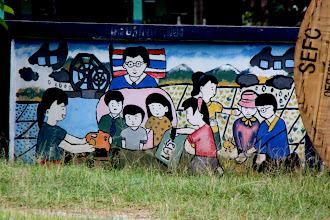 Photo: Day 334  - Mural on a Wall Outside a School