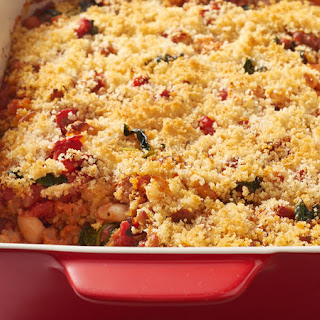 White Bean, Sausage and Spinach Casserole.