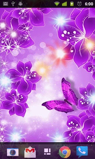 Purple Butterfly L Wallpaper