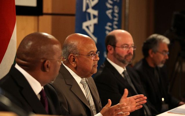 Oupa Magashula, Pravin Gordhan, Barry Hore and Ivan Pillay. Picture: SIMON MATHEBULA