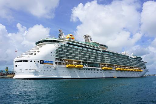 Mariner of the Seas docked in Nassau, Bahamas.