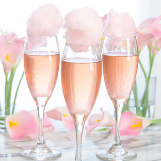 Cotton Candy Champagne Cocktails.