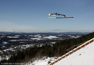 Photo: World Cup skiflyging i Vikersund - Simon Ammann