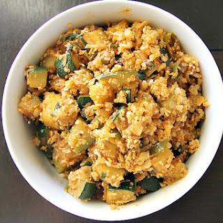 Spicy Zucchini Cauliflower Rice.