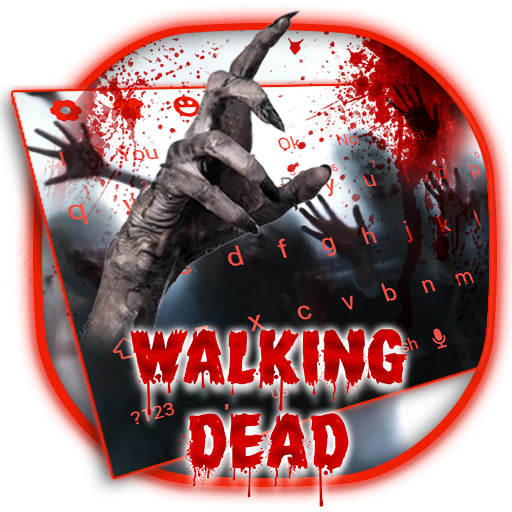 3D Live Walking Dead Zombie Keyboard 10002