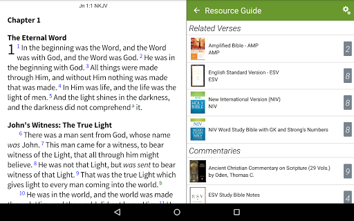 NKJV Bible by Olive Tree app (apk) free download for Android/PC/Windows screenshot