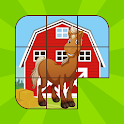 Kids Horses Sliding Puzzle icon