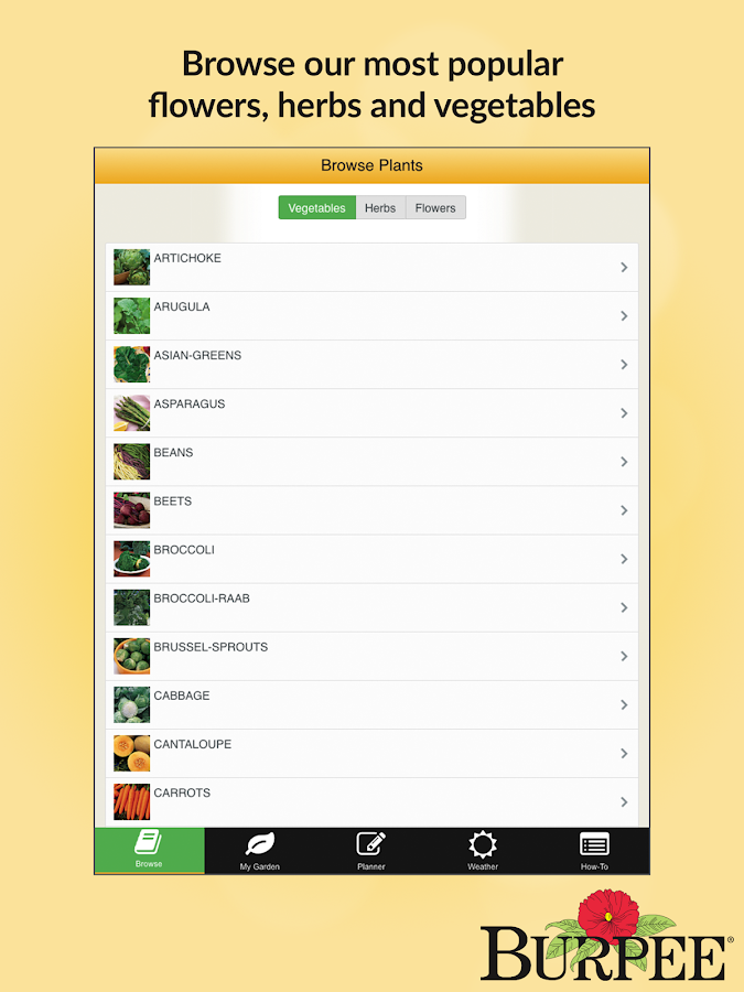 Garden time planner by burpee android apps on google play for Garden planner app