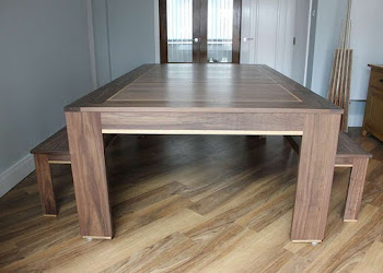7ft Spartan Rollover with Benches in American Black Walnut
