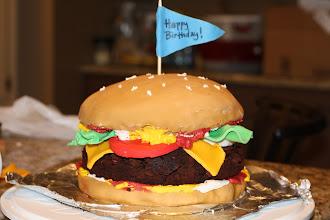Photo: Hamburger Birthday Cake January 2011 Blog Post: http://createsharerepeat.blogspot.com/2011/02/project-of-week-hamburger-birthday-cake.html