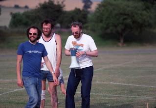 Photo: Malcolm Munroe, John Steele, and Gavin Eadie
