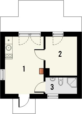 Domek 10 - Rzut parteru