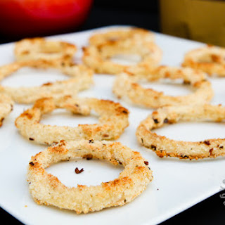 Baked Seasoned Onion Rings (vegan, gluten-free)
