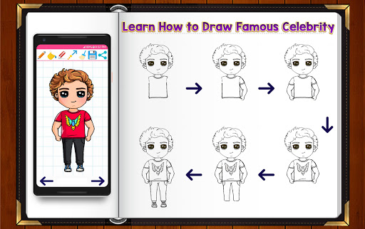 Learn How to Draw Chibi Famous Celebrities 1.2.2 screenshots 4