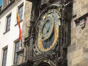 Photo: The atronomical clock tells Bohemian time, modern time, and predicts the time of sunrise and sunset. Not bad for a 500 year old piece of technology.