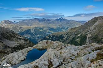 Photo: le nostre belle cime viste dal lago della Ruota.