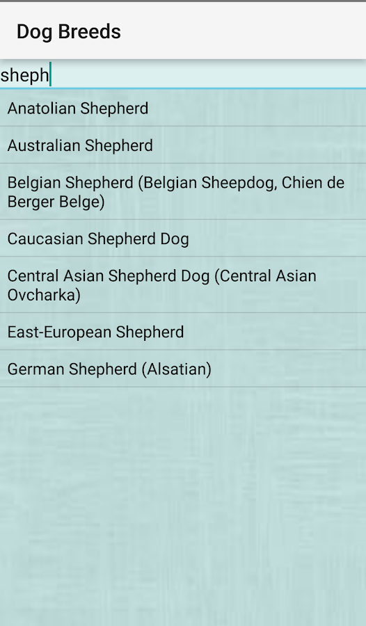 Dog Breeds- screenshot