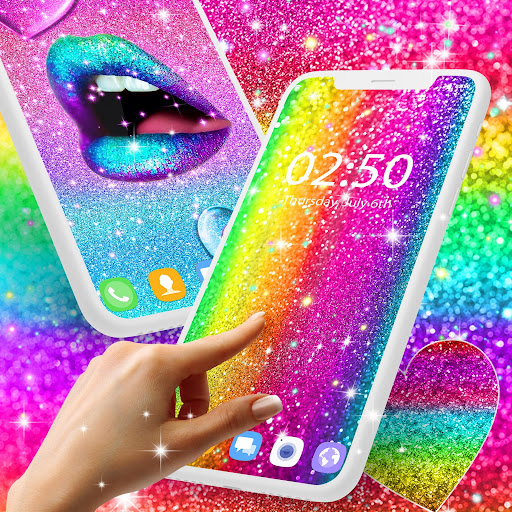 multi color glitter live wallpaper screenshot 1