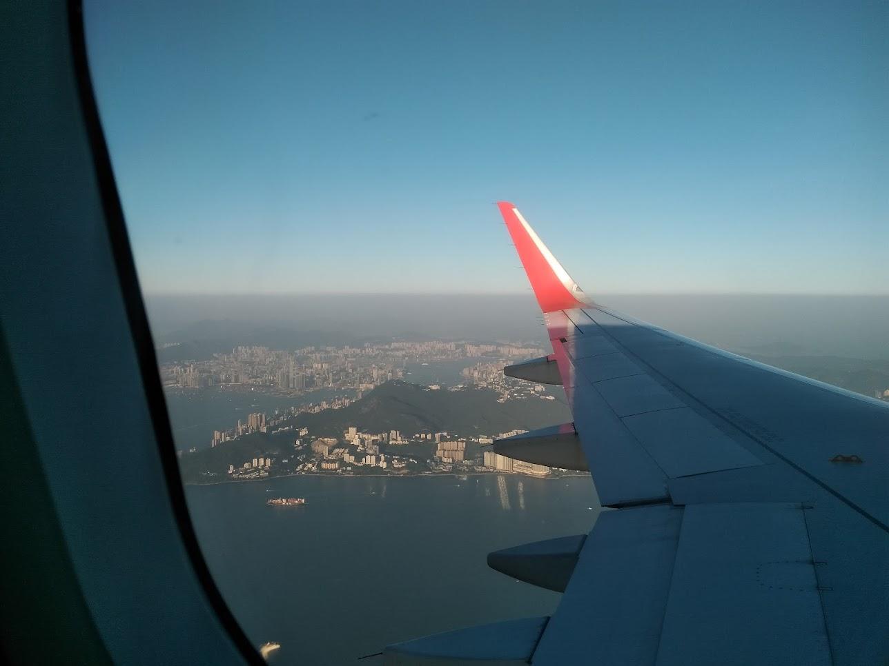 飛行機からみたモンゴル