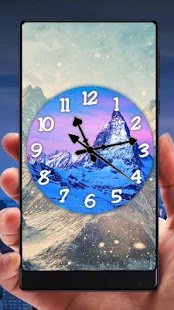 Mountain Analog Clock Live Wallpaper - náhled