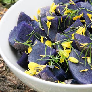 Purple Potato and Fennel Salad in a Citrus Coriander Dressing