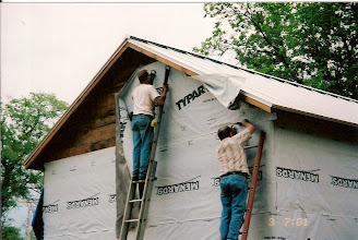 Photo: Wrapping with tyvek
