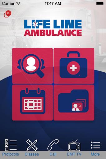 Life Line Ambulance.