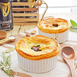 Pressure Cooker Steak and Guinness Pot Pies.