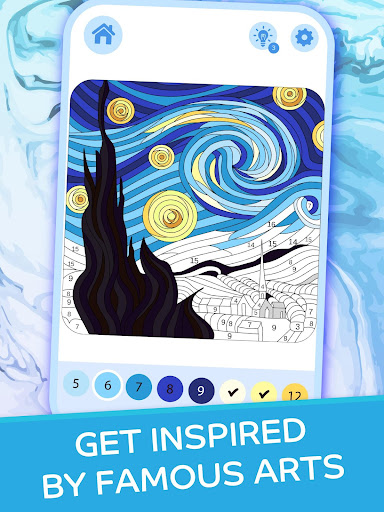 Dream Art - Color by Numbers apkpoly screenshots 11