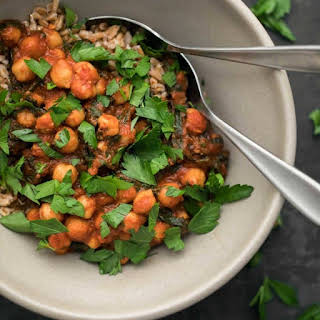 Berbere Chickpeas and Chard.