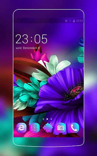 Purple Bloom:Flower launcher for Samsung S6 theme 3.9.7 screenshots 1
