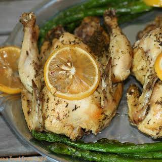 Slow Cooker Greek Cornish Hens.