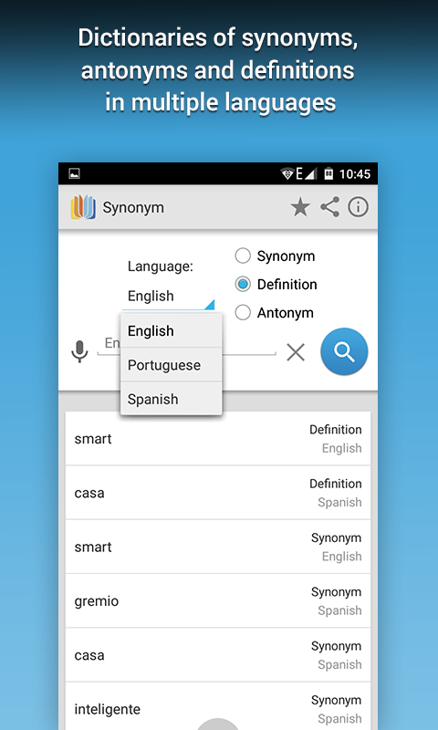 Synonym- screenshot